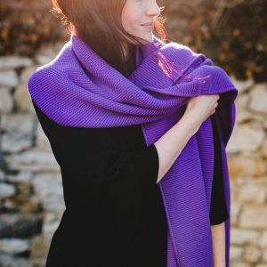 Schal aus Biobaumwolle